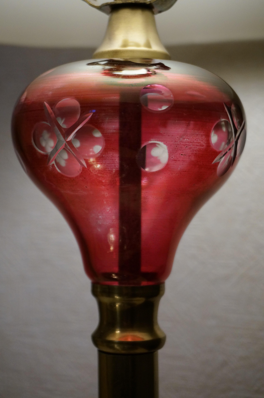 クランベリーガラスの部分