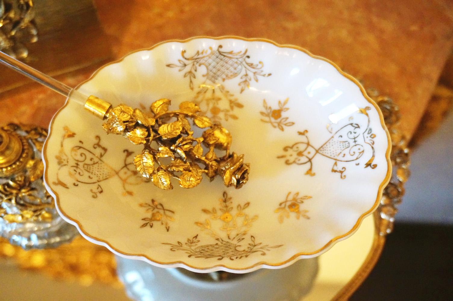 ゴールド ソープディッシュ 陶器