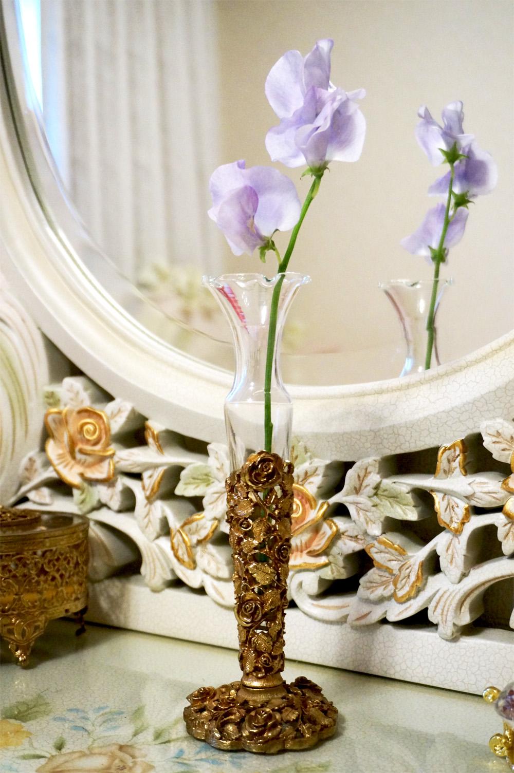 Sold:マトソン製 ゴールド ローズ 花瓶