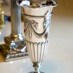 William Hutton製 スターリングシルバー リボンモチーフ 花瓶