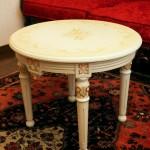 イギリス製 ホワイトローズ サイドテーブル