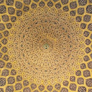 イスファハン市・シェイクロトフォラーモスクの天井