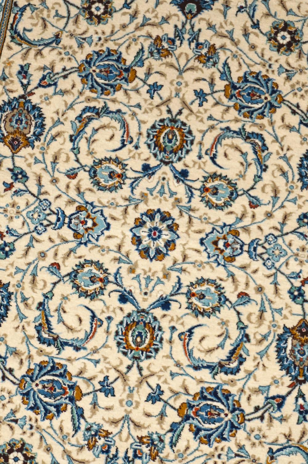 ペルシャ製 c1950 カシャーン 絨毯 センター