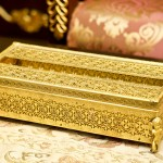 Sold: スタイルビルト製 ゴールド 天使 ティッシュボックス