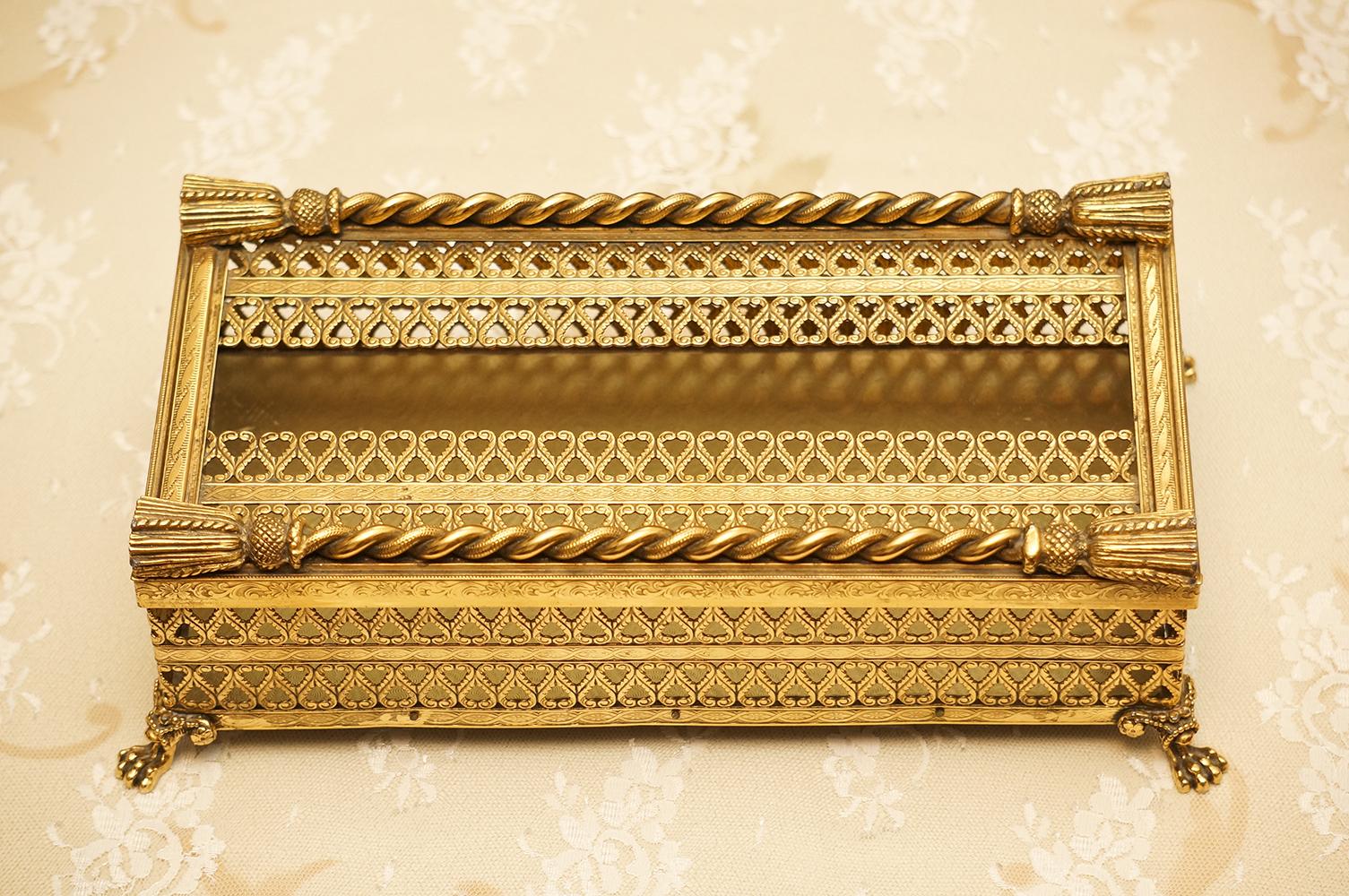 Sold:スタイルビルト製 ゴールド ロープ ティッシュボックス