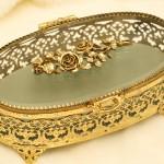 Sold:マトソン製 ゴールド ローズ ジュエリーボックス