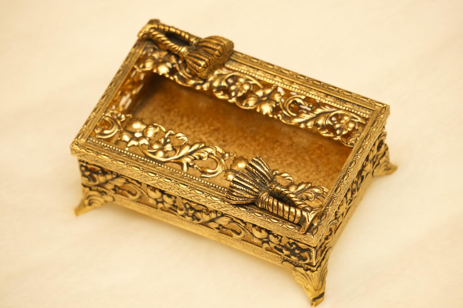 スタイルビルト製 ゴールド ミニ ロープ ティッシュボックス
