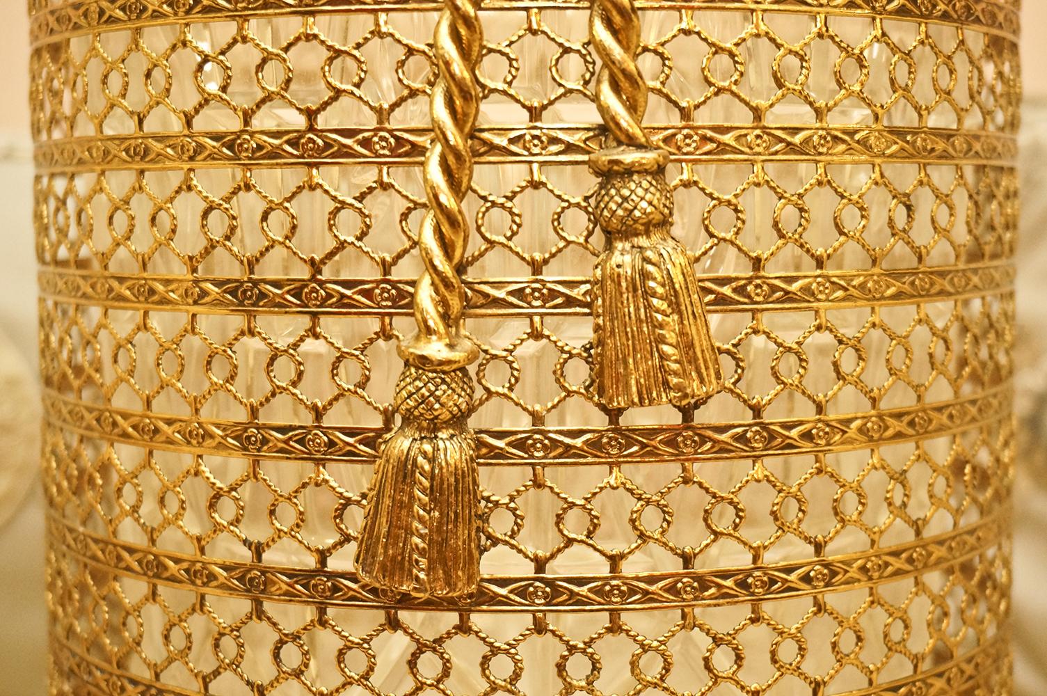 Sold: スタイルビルト ゴールド ロープ透かし ゴミ箱 拡大