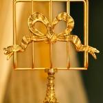 Sold:スタイルビルト製 ゴールド リボン スタンド型 タオルホルダー