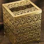 Sold:マトソン製 ゴールド 正方形 脚付き ティッシュボックス