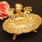 Sold:スタイルビルト製 ゴールド 天使 ソープディッシュ