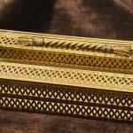 スタイルビルト製 ゴールド ロープ ティッシュボックス