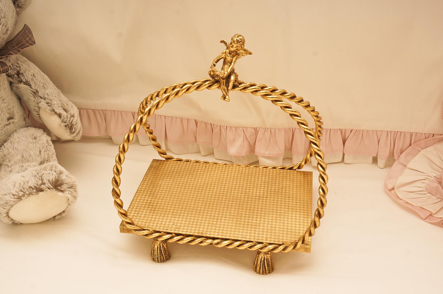 スタイルビルト製 ゴールド 天使 タオルホルダー