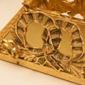 スタイルビルト製 ゴールド リボンフラワー タオルホルダー 拡大