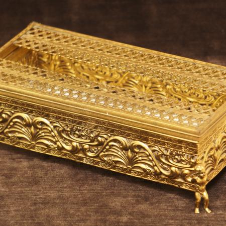 スタイルビルト製 ゴールド 天使 エレガントティッシュボックス