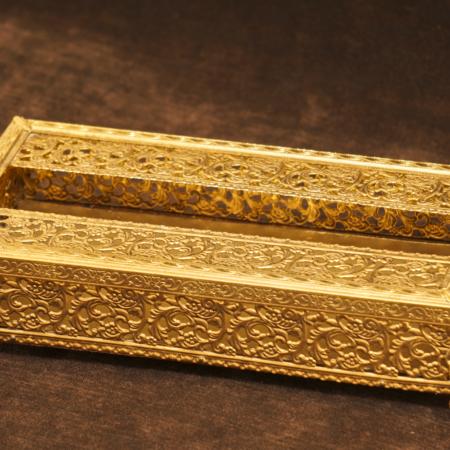 スタイルビルト製 ゴールド リーフエンジェル ティッシュボックス