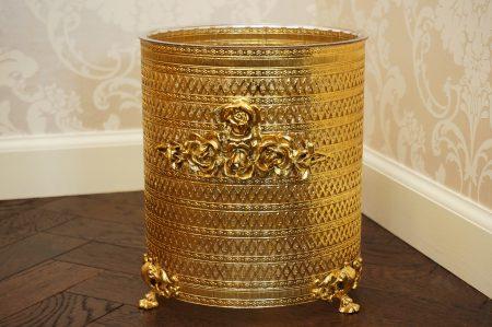 スタイルビルト製 ゴールド ローズ ライオン脚 ゴミ箱