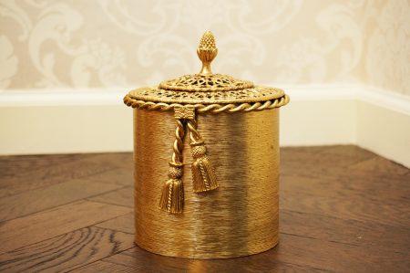 スタイルビルト製 ゴールド ロープ トイレットペーパーホルダー