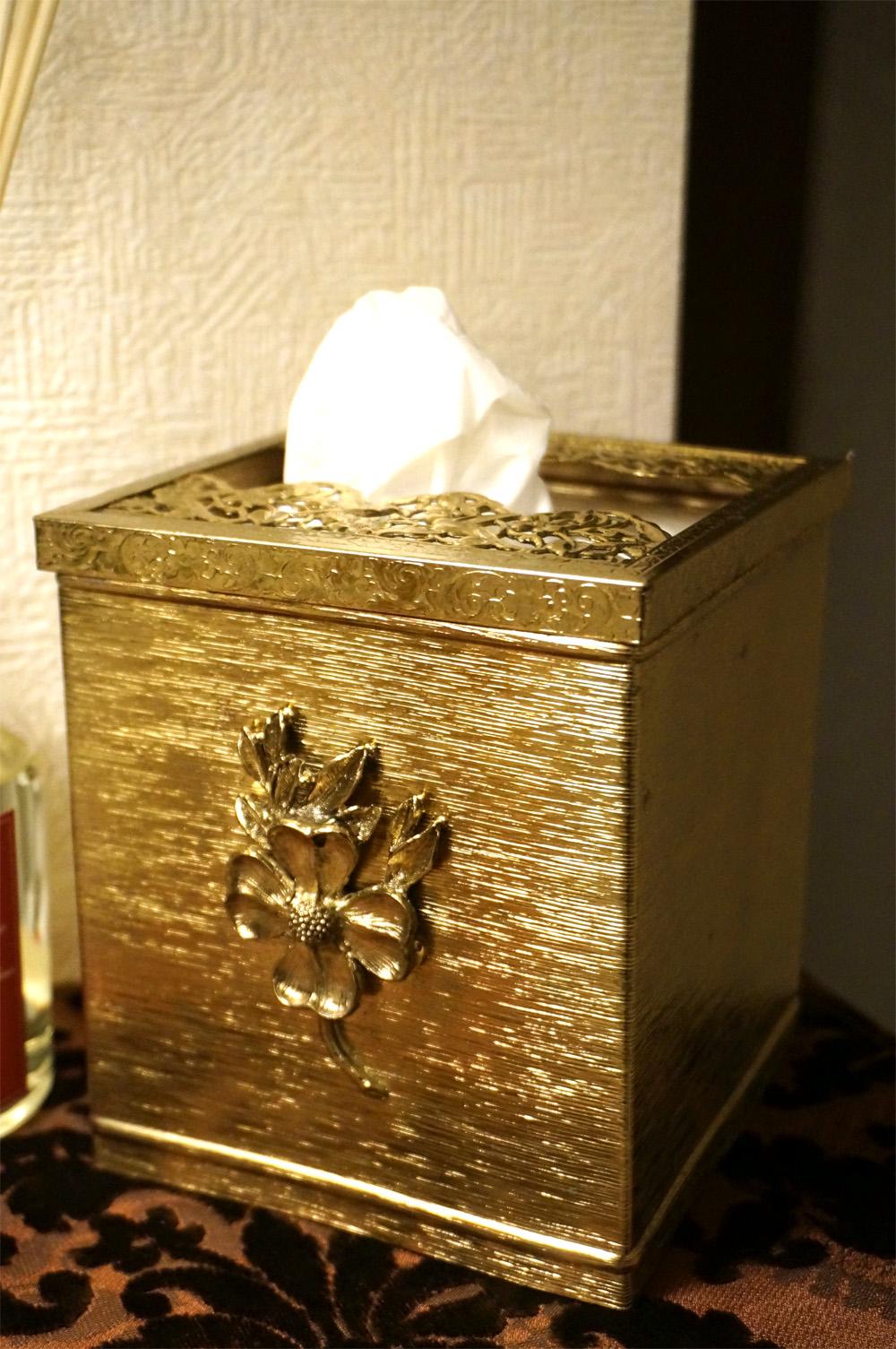 ゴールド ポピー ティッシュボックス