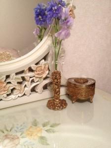 ゴールドローズ花瓶