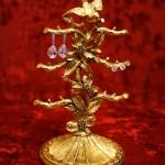 マトソン製 ゴールド 小鳥とハナミズキ ピアススタンド
