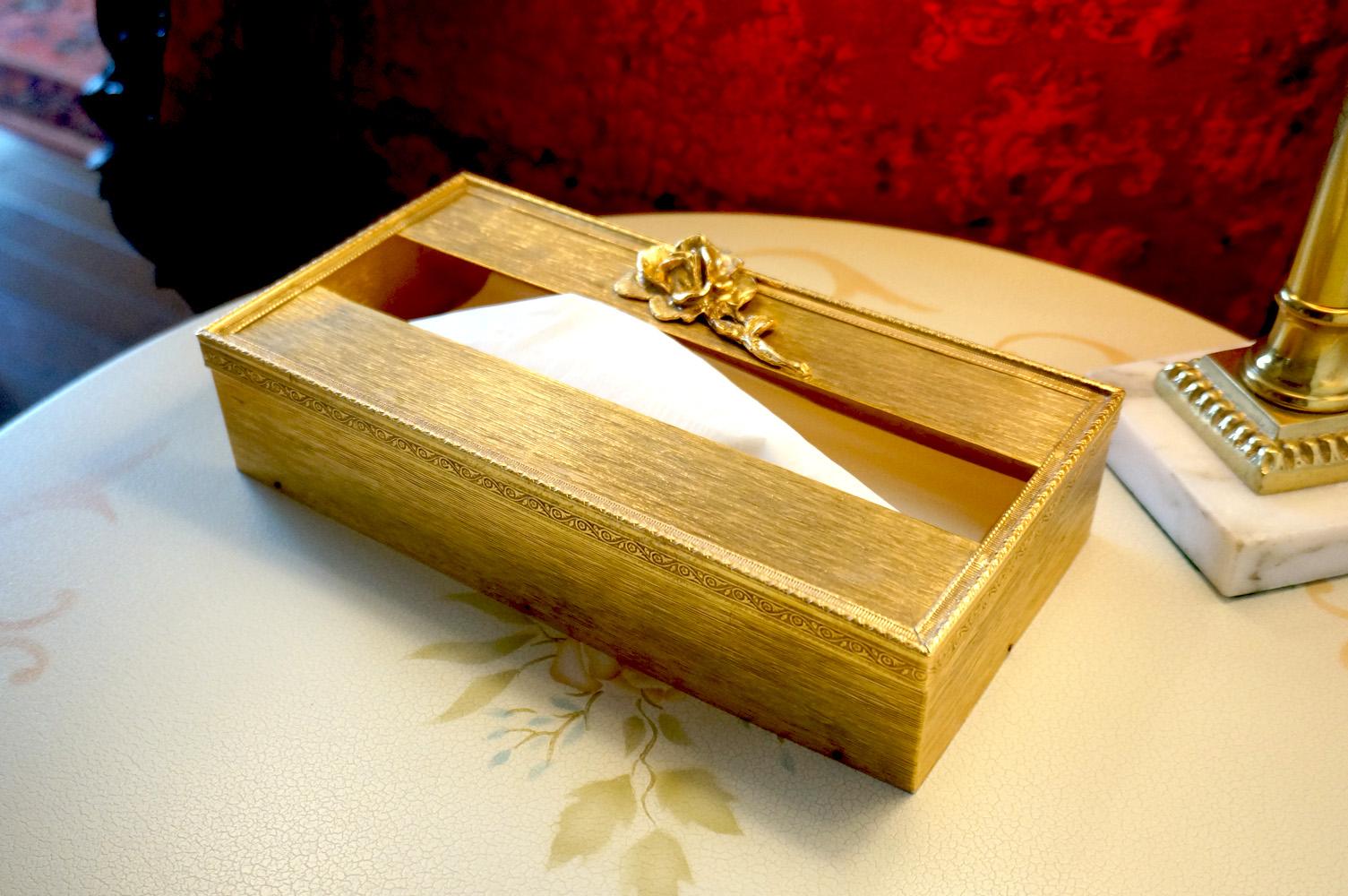 Sold:ゴールド ローズ ティッシュボックス