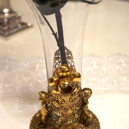 Stylebuilt製 ゴールド 2人の天使 エレガント フラワーベース