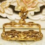 マトソン製 ゴールド 薔薇 リップスティックホルダー