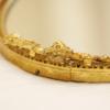 マトソン製 ゴールド ローズ オーバル バニティミラートレー マーク