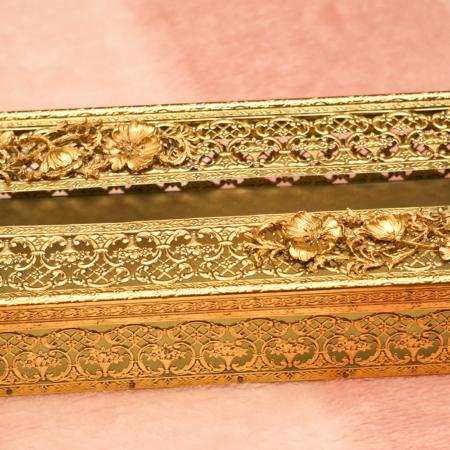 Sold:マトソン製 ゴールド ポピー ティッシュボックス