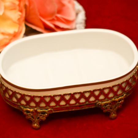 スタイルビルト製 ゴールド 陶器 ソープディッシュ