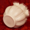 フェントン製 ピンク&ホワイト フリル 花瓶 裏側