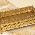 スタイルビルト製 ゴールド 天使 フラワー ティッシュボックス