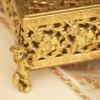 スタイルビルト製 ゴールド 天使 フラワー ティッシュボックス 拡大