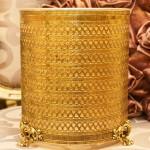 Sold:スタイルビルト製 ゴールド ハート ゴミ箱