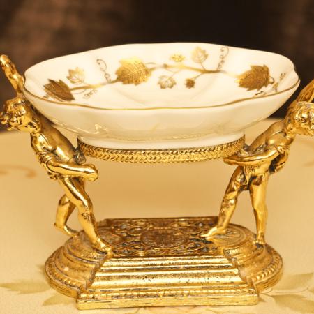Sold:スタイルビルト製 ゴールド ベビー リーフ ソープディッシュ