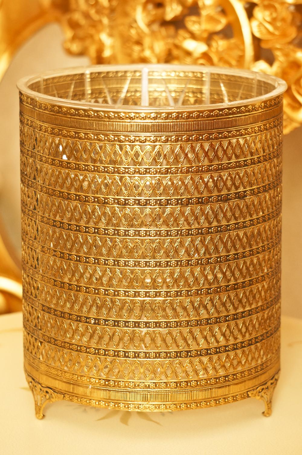 スタイルビルト製 ゴールド ゴミ箱