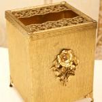 Sold:マトソン製 ゴールド ローズ 正方形 ティッシュボックス