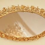 Sold:スタイルビルト製 ゴールド ローズ バニティミラートレー