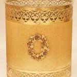 マトソン製 ゴールド ローズ リース ゴミ箱