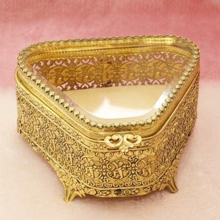 グローブ製 ゴールド 天使 トライアングル型 ジュエリーボックス