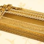 Sold:スタイルビルト製 ゴールド リボン ティッシュボックス