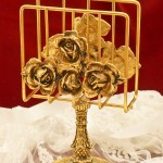 Sold:スタイルビルト製 ゴールド ローズ スタンド型 タオルホルダー