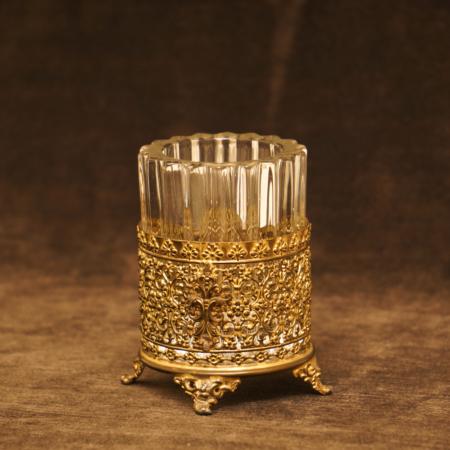 アポロ製 ゴールド ガラス タンブラーホルダー