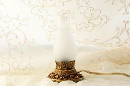 マトソン製 ゴールド ローズ ミニテーブルランプ
